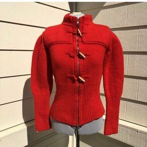 VERONIQUE BRANQUINHO Wool Cardigan Sweater Jacket